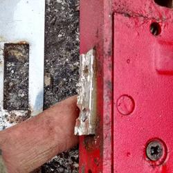 Sash Lock Seized