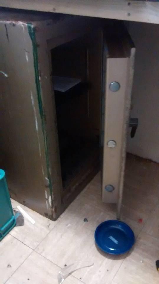 Safe door opened