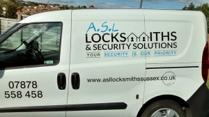 asl locksmiths & security Solutions van