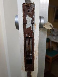 old corroded lock